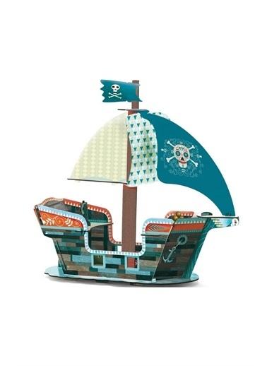 Djeco Djeco 3D Karton Korsan Botu Pembe